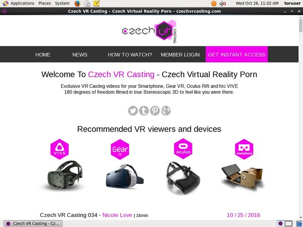 Get Czech VR Casting Password