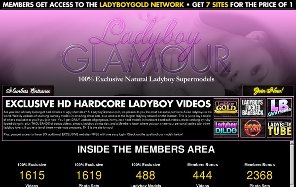 Signup For Ladyboy Glamour With Paypal