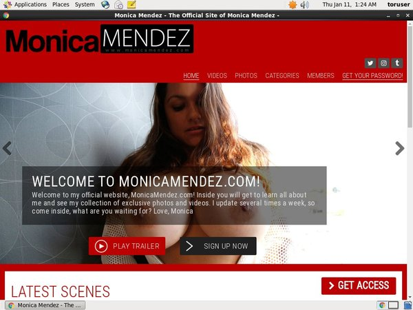 Monica Mendez Website Password