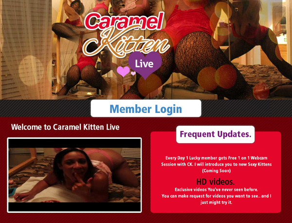 Free Account Of Caramel Kitten Live