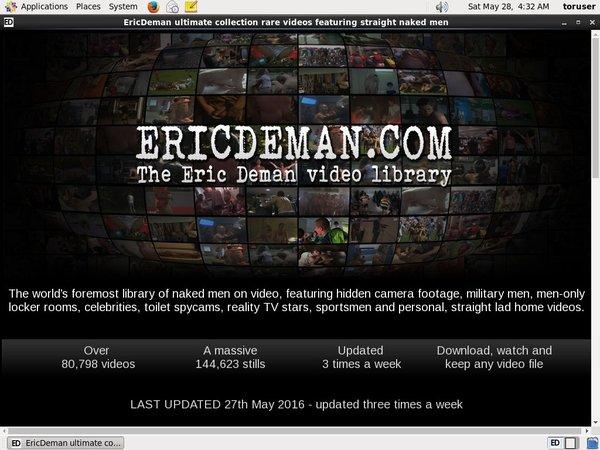 Eric Deman Site Passwords