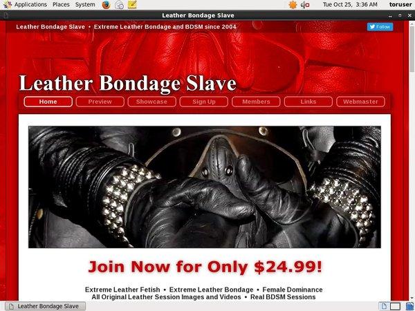 Get Leather Bondage Slave Account